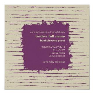 Plum & Nougat Bachelorette Party Invitation