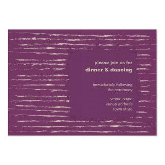 Plum & Nougat Reception Invitation