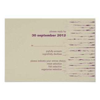 Plum & Nougat RSVP Card Invitation