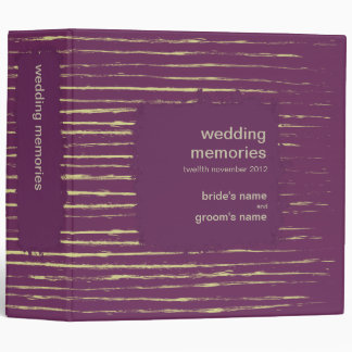 Plum & Nougat Wedding Memories Binder