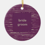 Plum & Nougat Wedding Ornament