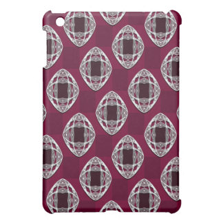 Plum Nouveau Checked Pattern iPad Mini Cases