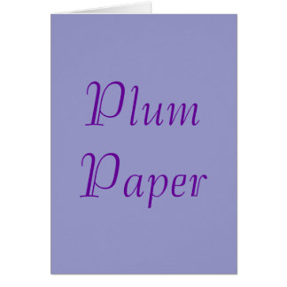 Plum Paper Card