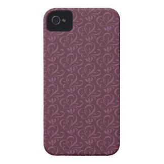 Plum Passion Dark Swirls iPhone 4 Cover
