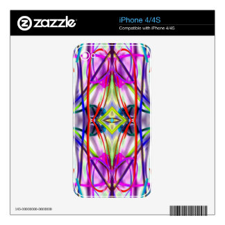 Plum Perfect Bent Lines Decal For The iPhone 4S