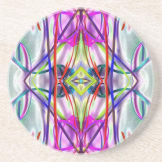 Plum Perfect Bent Lines Sandstone Coaster