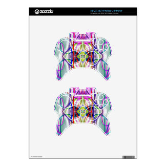 Plum Perfect Bent Lines Xbox 360 Controller Decal