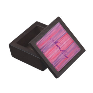 Plum-Pink and Purple striped watercolor Premium Trinket Boxes