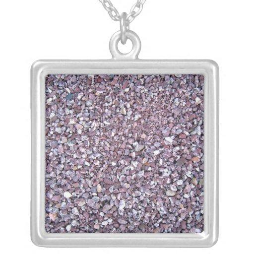 Plum Pink limestone slate Jewelry