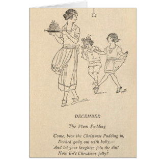 Plum Pudding Card