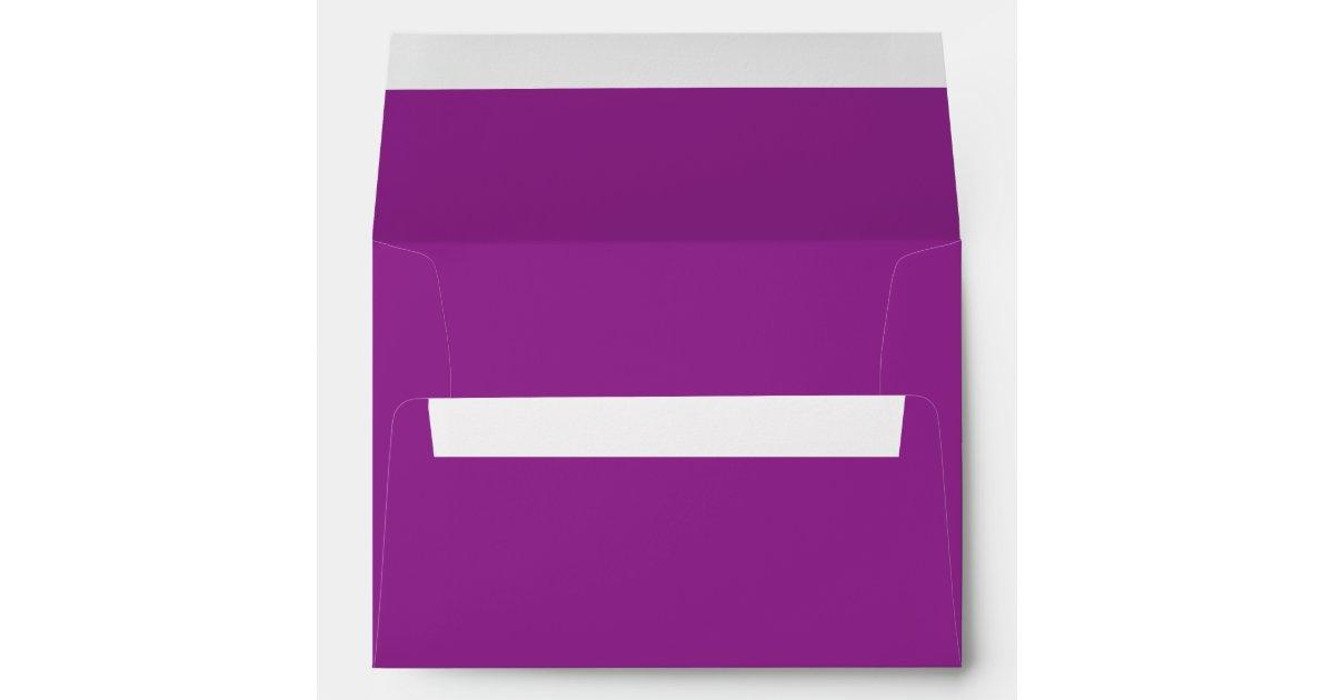 plum purple a7 envelope zazzle