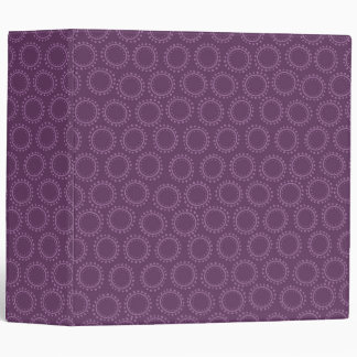 Plum Purple Abstract Circle Doodle Pattern Binder