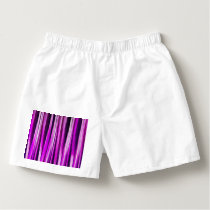 Plum Purple and and Burgundy Stripy Lines Pattern Boxers