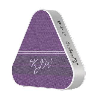 Plum Purple and Lavender Monogram Bluetooth Speaker
