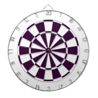 plum purple and white dartboard