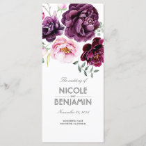 Plum Purple Boho Watercolors Floral Programs