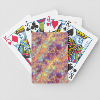 Plum Purple Crumpled Texture Bicycle Playing Cards