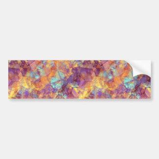 Plum Purple Crumpled Texture Bumper Sticker