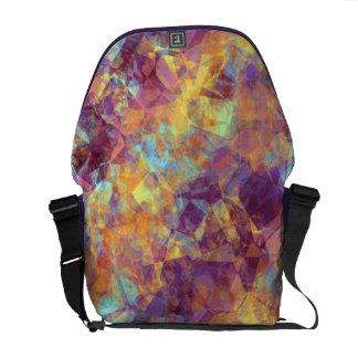 Plum Purple Crumpled Texture Messenger Bag