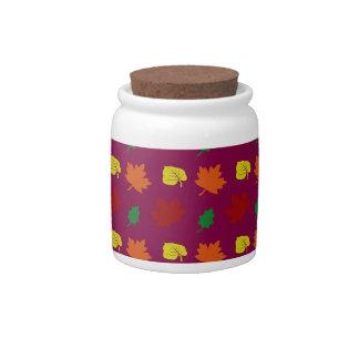 Plum purple fall leaves candy jars