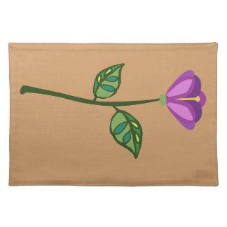 Plum purple flower placemat