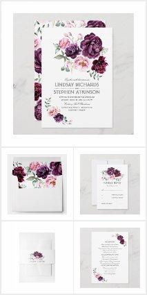 Purple Bohemian Wedding Collection