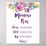 Plum Purple Garden Mimosa Bar Sign