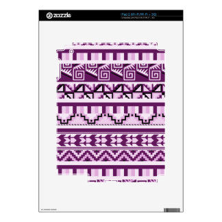 Plum Purple Geometric Aztec Tribal Print Pattern Decal For The iPad 2