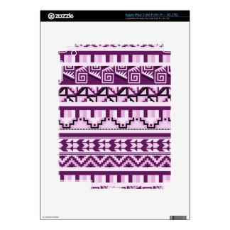 Plum Purple Geometric Aztec Tribal Print Pattern iPad 3 Skin