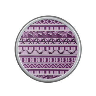 Plum Purple Geometric Aztec Tribal Print Pattern Speaker