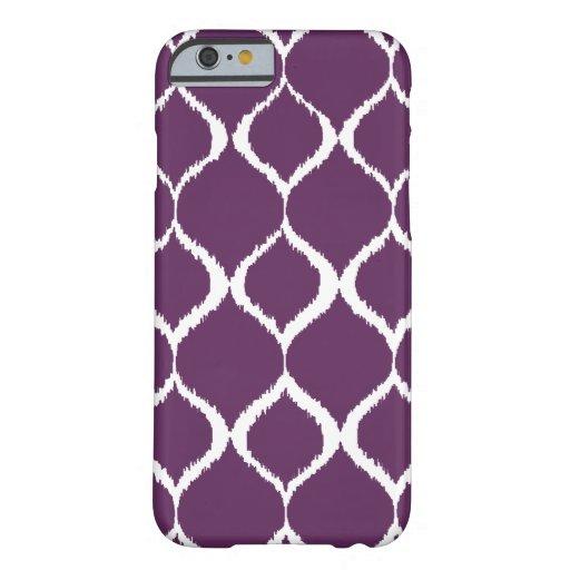 Plum Purple Geometric Ikat Tribal Print Pattern iPhone 6 Case