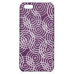 Plum Purple Ikat Overlap Circles Geometric Pattern Cover For iPhone 5C