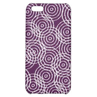 Plum Purple Ikat Overlap Circles Geometric Pattern iPhone 5C Cases