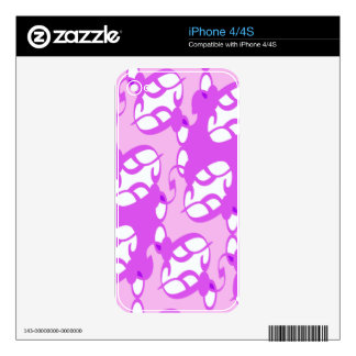 Plum Purple Lace Decal For The iPhone 4S