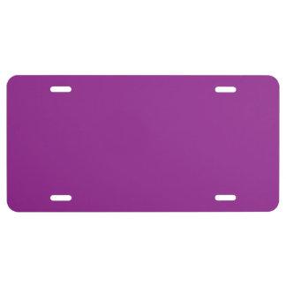 """Plum Purple"" License Plate"