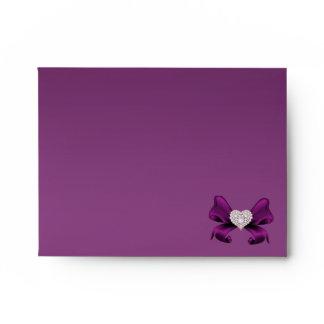 Plum Purple Peacock Note Envelope