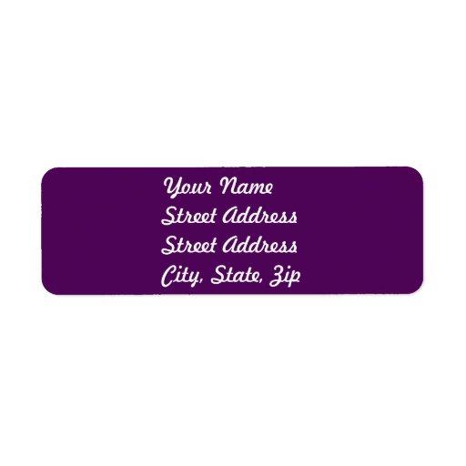 Plum Purple Return Address Sticker Custom Return Address Labels