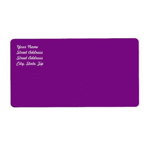 Plum Purple Shipping Label