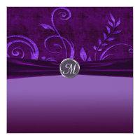 Plum & Purple Velvet Wedding Swirl Card