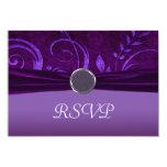 Plum & Purple Velvet Wedding Swirl Custom Announcements