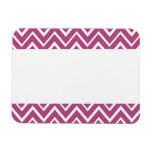 Plum purple whimsical zigzag chevron pattern flexible magnet