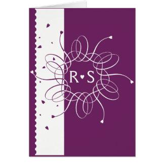Plum Romantic Rosette Wedding Invitation
