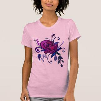 Plum Rose Drawing Shirt
