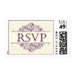 Plum RSVP Postage Stamp
