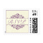 Plum RSVP Postage Stamp (Small)