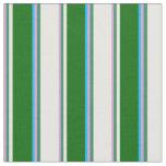 [ Thumbnail: Plum, Sea Green, White, Dark Green & Deep Sky Blue Fabric ]