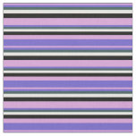 [ Thumbnail: Plum, Slate Blue, Dark Slate Gray, White & Black Fabric ]