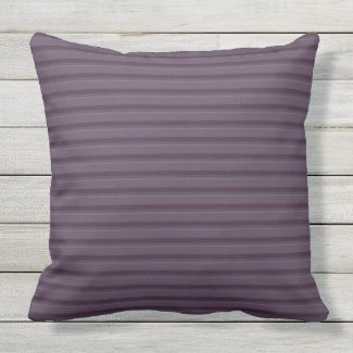 Plum Smoke Thin Stripe Outdoor Pillow 20x20