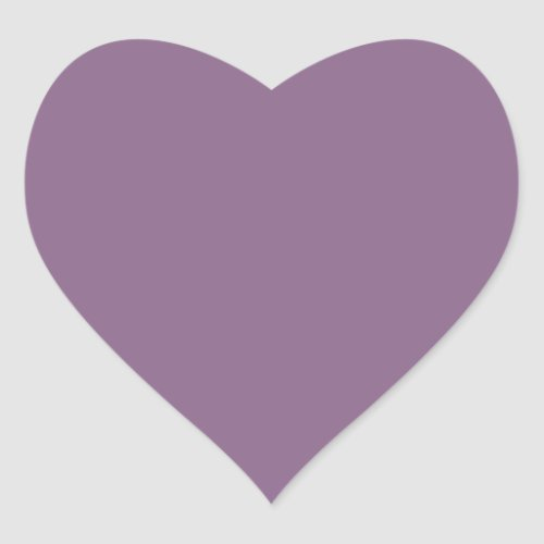 Plum Solid Color Heart Sticker