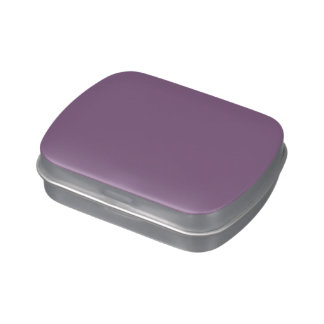 Plum Solid Color Jelly Belly Candy Tins